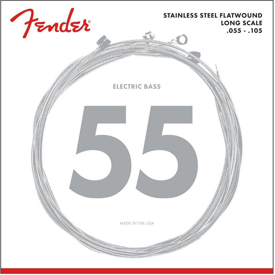 Fender 9050ML .050-.105 Stainless Steel Flatwound Electric Bass Strings 9050ML