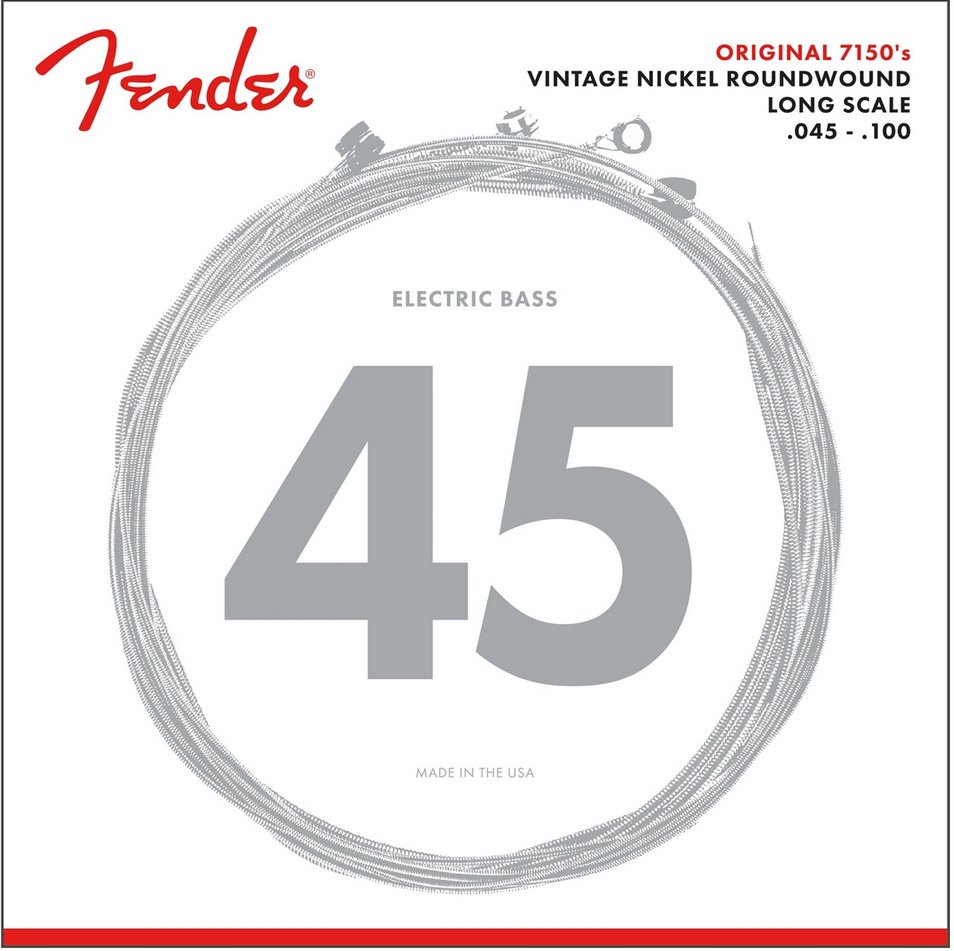 .045-.100 Medium Light Long Scale Pure Nickel Electric Bass Strings