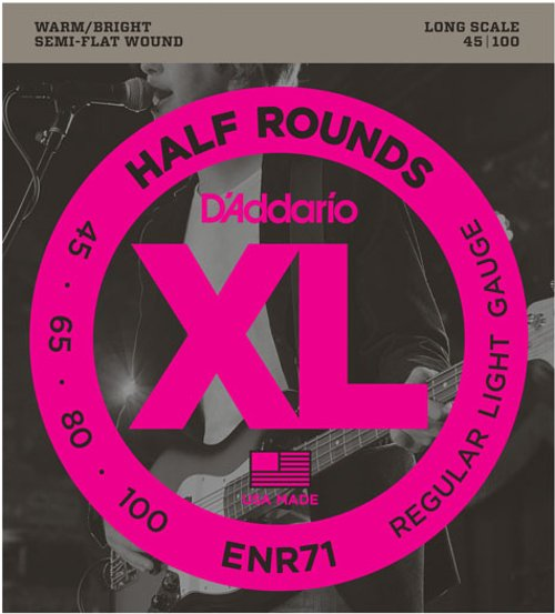 "D`Addario ENR71 .045-.100"" Half Round Long Scale Electric Bass Strings ENR71"