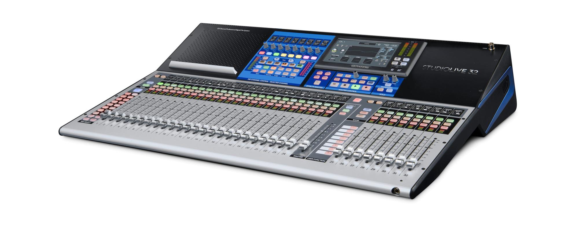 PreSonus StudioLive 32 40-Input Digital Console/Recorder with 33 Motorized Faders STUDIOLIVE-32