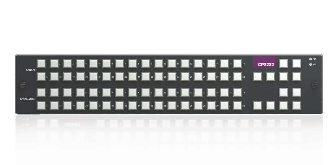 XY Button panel for 2RU Nvision Compact Routers