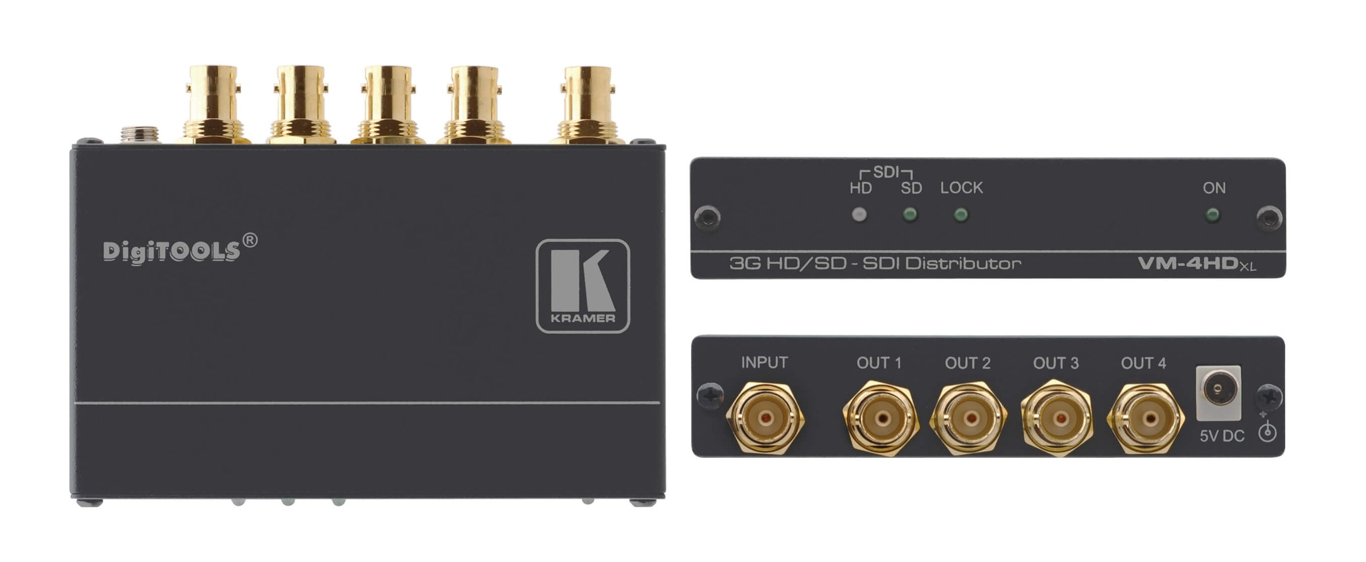 1:4 SDI, HD-SDI & 3G HD-SDI Video Distribution Amplifier