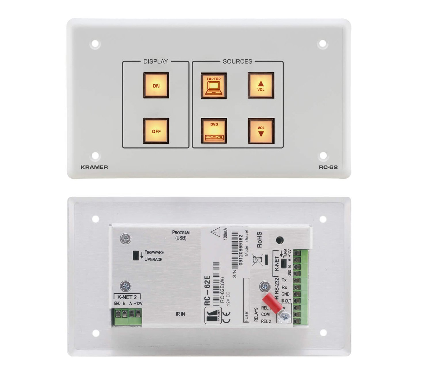 6-Button Room Controller with Printed Group Labels