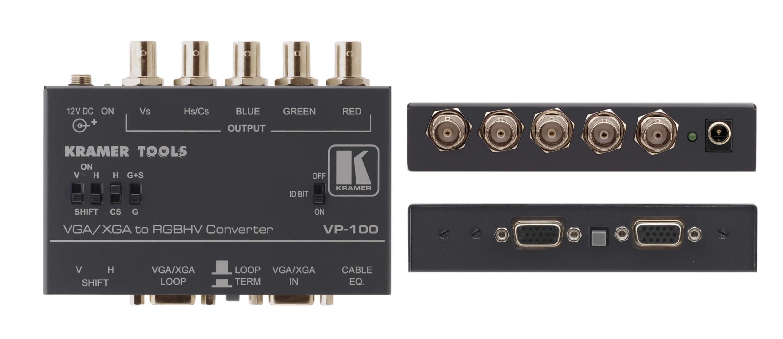 Kramer VP100 VGA/XGA to RGBHV Format Converter / Interface VP100