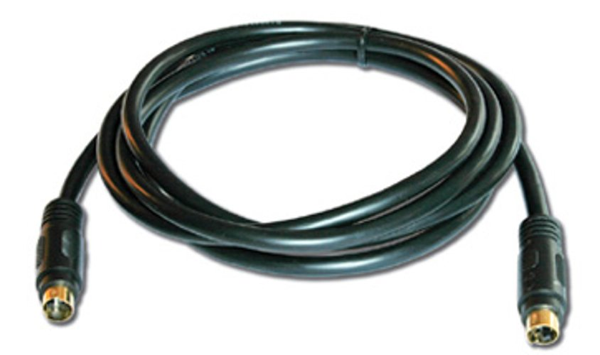 Molded 4-Pin S-Video Cable, 15 Ft