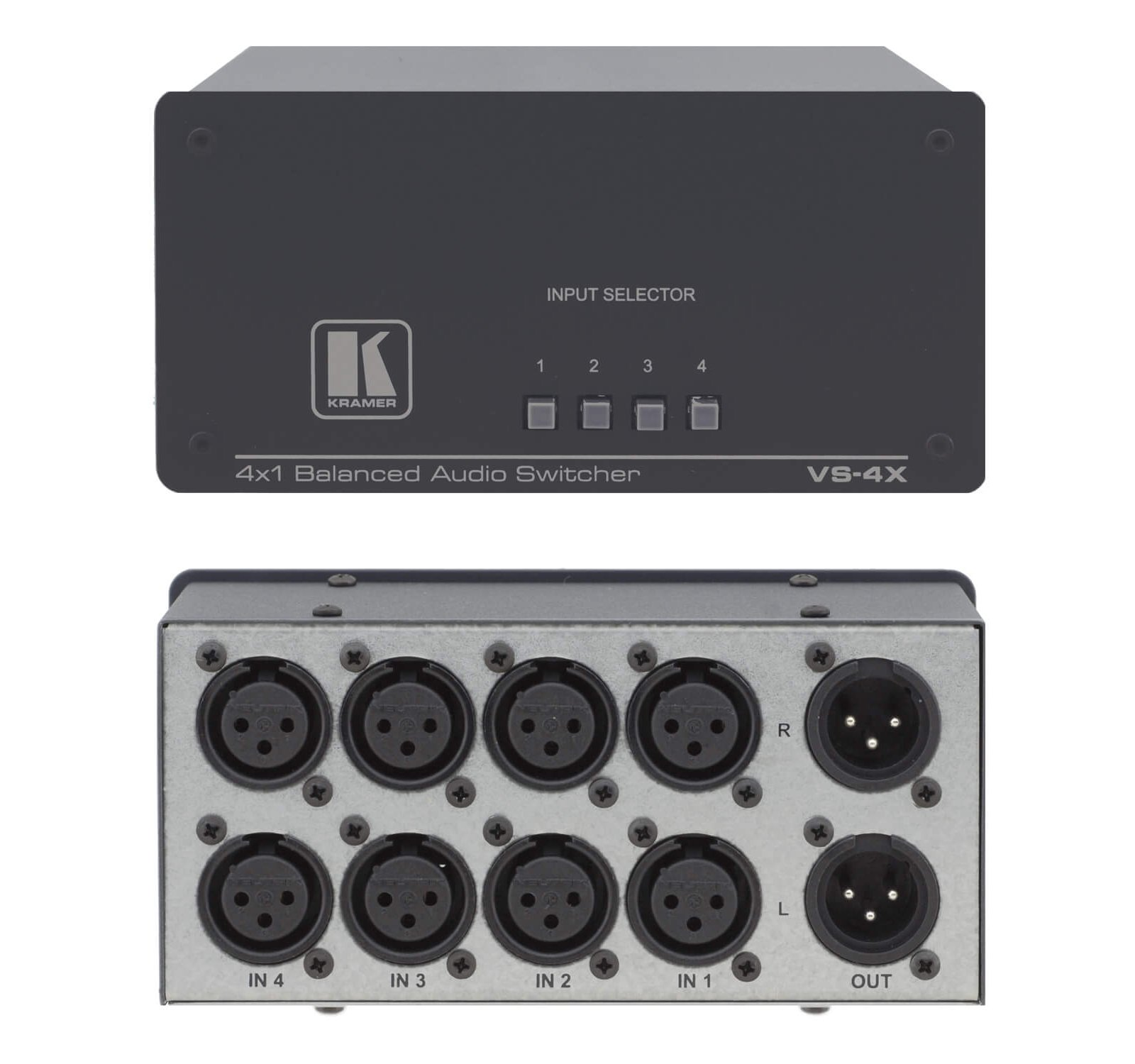 4x1 Balanced Audio Switcher