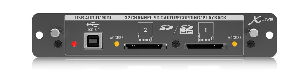 X32 Expansion Card for 32-Channel Recording on SD/SDHC or USB Interfaces