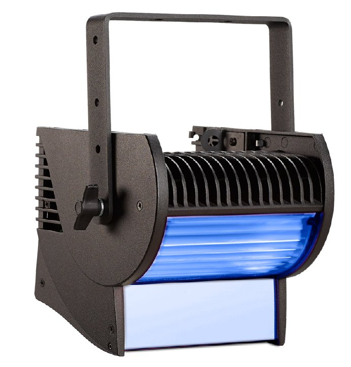 LED Cyclorama Fixture in Black with Bare End Power Input