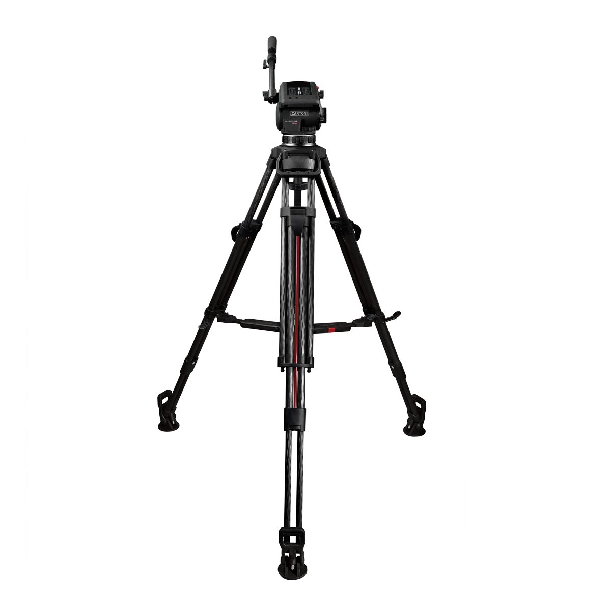 Focus 22, 2-Stage Al 100mm Smart Stop Tripod with Mid Level Speader