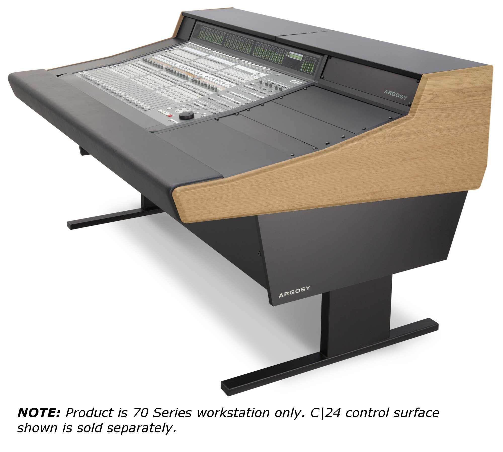 Workstation for Avid C|24 Control Surface with Oak Trim