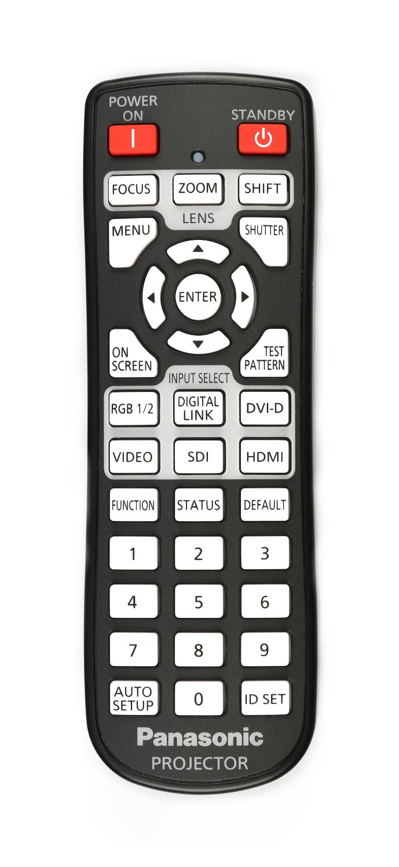 Panasonic HPR121198 Remote Control for PT-DW830ULK HPR121198
