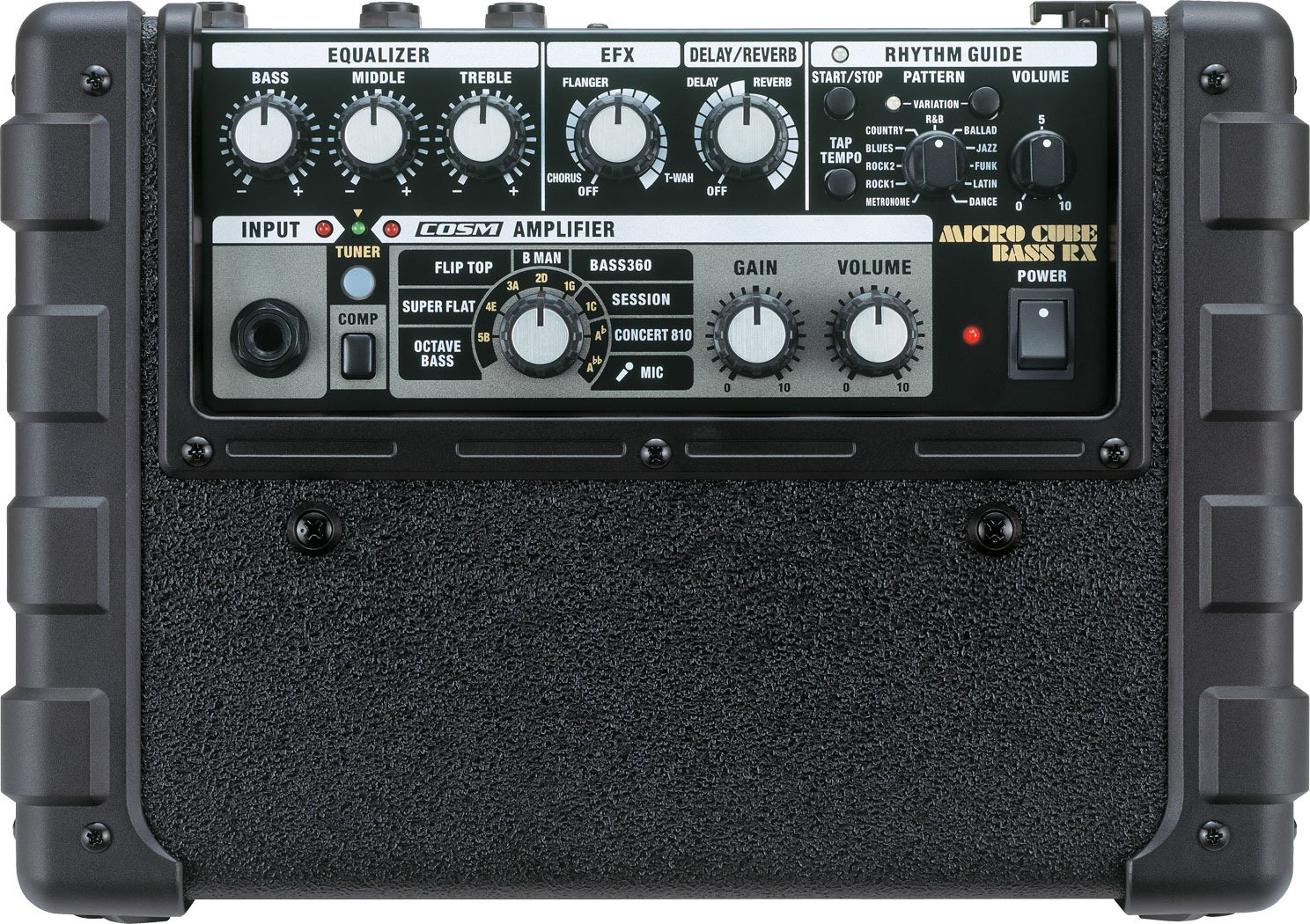 roland micro cb rx 5w 1 channel 4x4 portable bass combo amplifier full compass systems. Black Bedroom Furniture Sets. Home Design Ideas