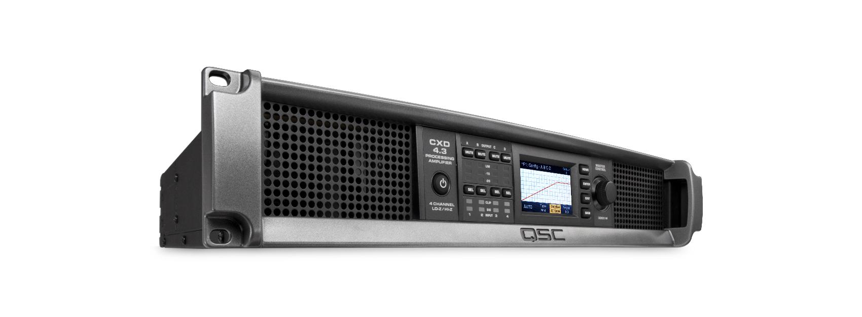 4-Channel 625W @ 2/4/8 Ohm Processing Power Amplifier
