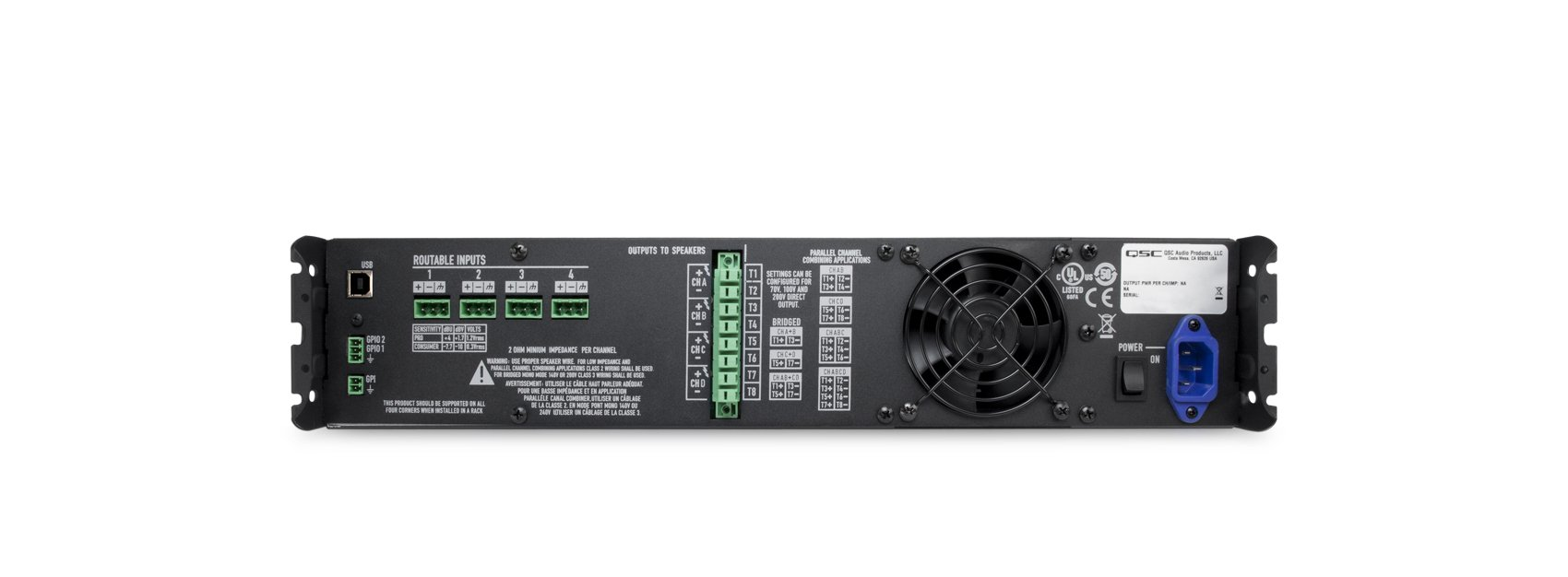 4 Channel 625w 2 8 Ohm Processing Power Amplifier By Qsc Cxd43 Classd Audio Reference Design Nxp Our Part Na Write The First Review