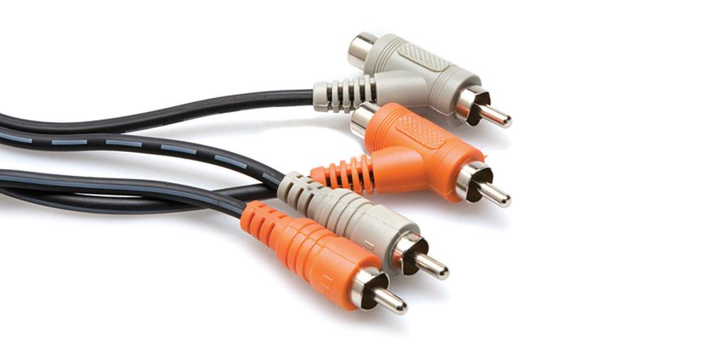 "1M Dual RCA to Dual ""Piggyback"" RCA Cable"