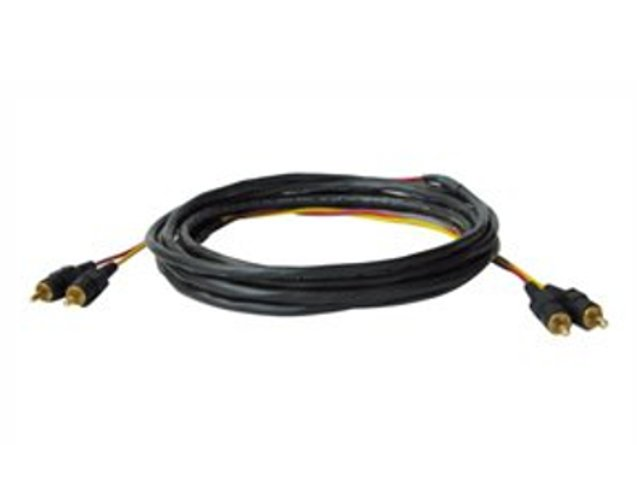 25 ft Dual RCA Stereo Audio Cable, Plenum Rated