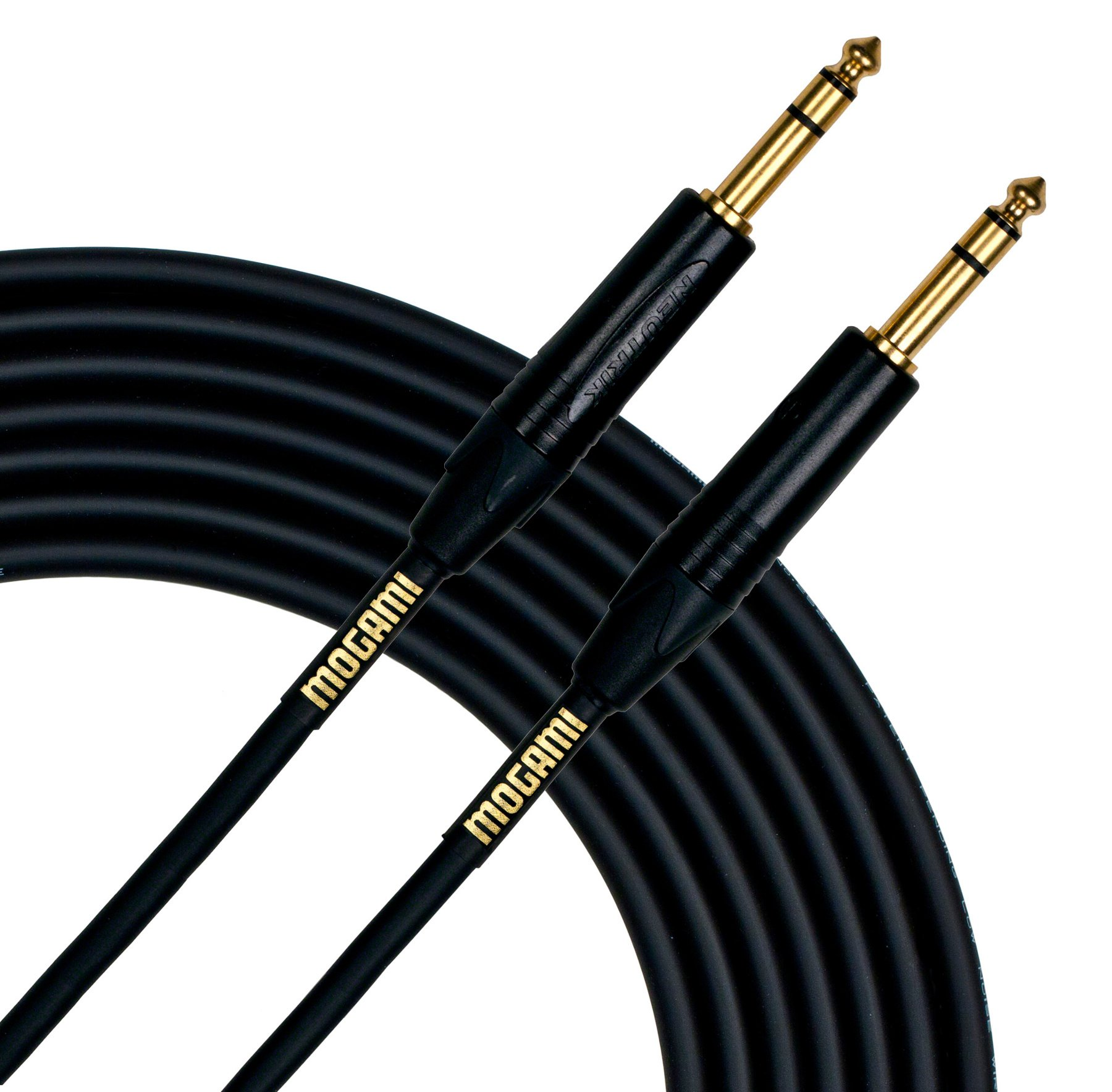 """1/4"""" TRS to 1/4"""" TRS Patch Cable, 10 ft"""