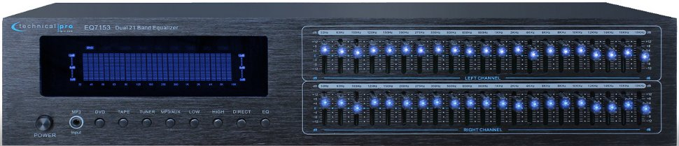 Dual 21-Band Graphic Equalizer with Bass and Loudness Boosters