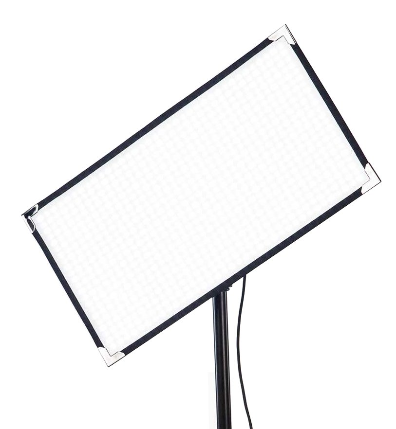 100W 1' X 2' Bi-Color LED Panel with Gold Mount Battery Plate and Case