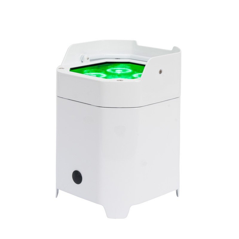 ADJ Element HEXIP Pearl 4x10w RGBAW+UV IP Rated LED Uplight with WiFly and Li-On Battery in White ELEMENT-HEX-IP-PEARL