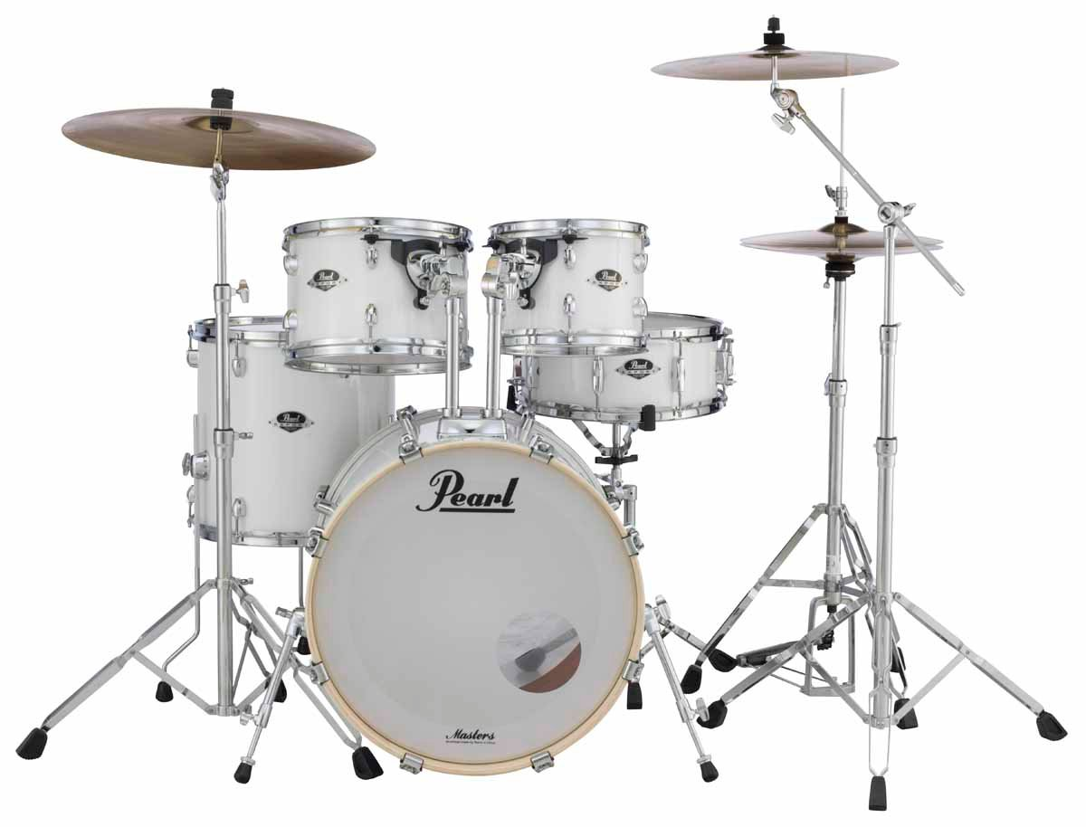5-Piece Pure White ePro Live Electronic Drum Kit with 830 Hardware