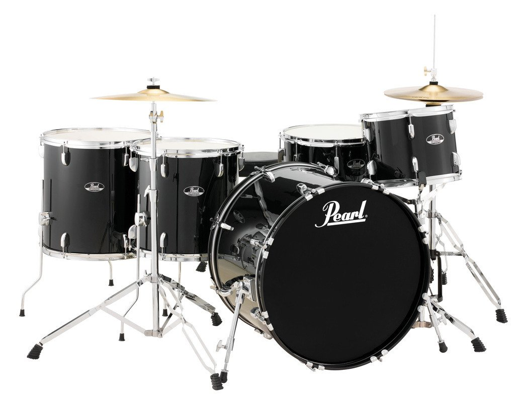 Pearl Drums RS525WFC/C [DISPLAY MODEL] 5-Piece Roadshow Series Drum Set in Jet Black with Cymbals and Hardware RS525WFC/C31-DIS