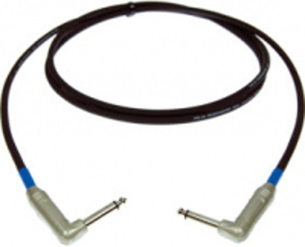 """6"""" Excellines Right Angle 1/4"""" TS Male to Male Guitar Cable"""