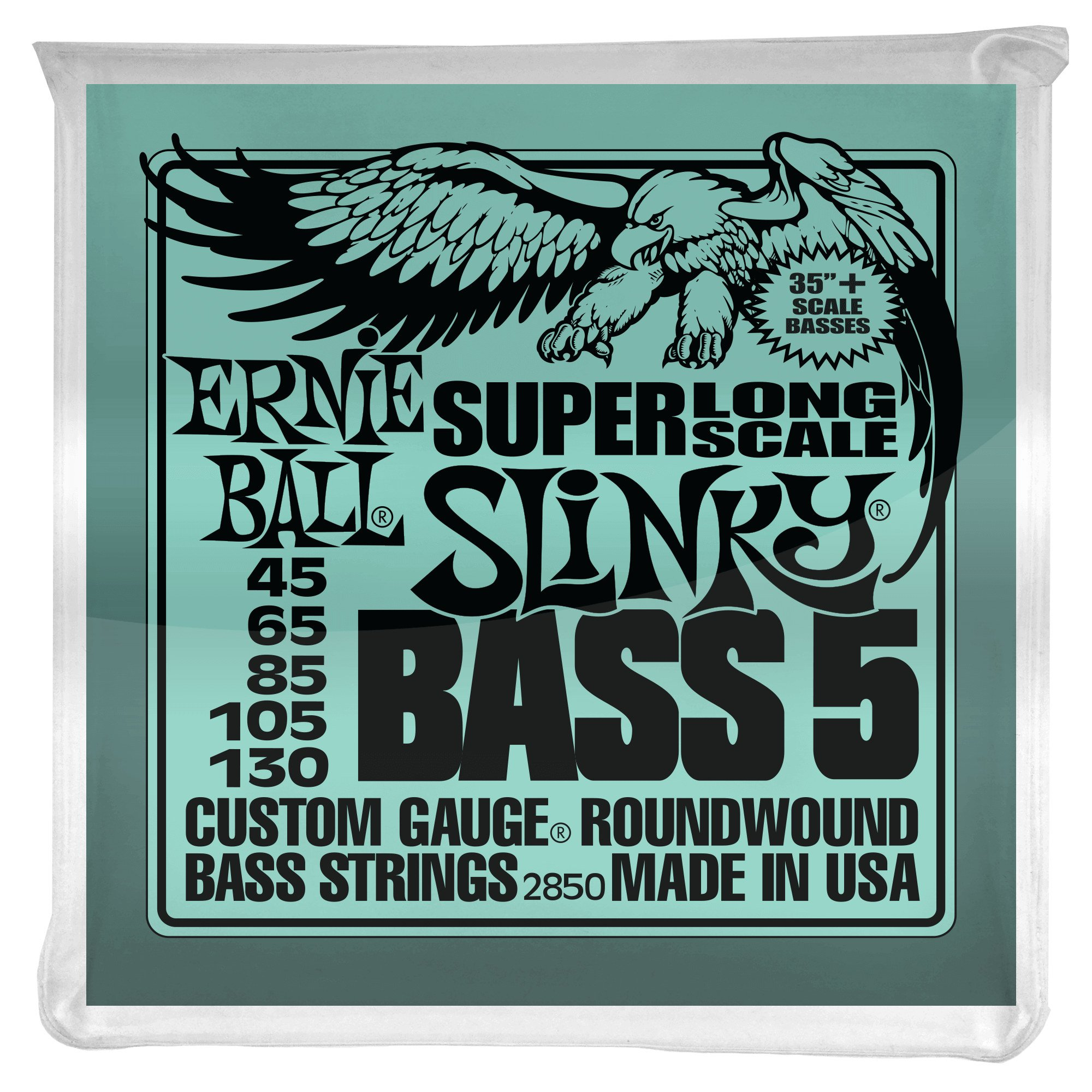 ernie ball p02850 bass 5 string xl hybrid slinky full compass. Black Bedroom Furniture Sets. Home Design Ideas