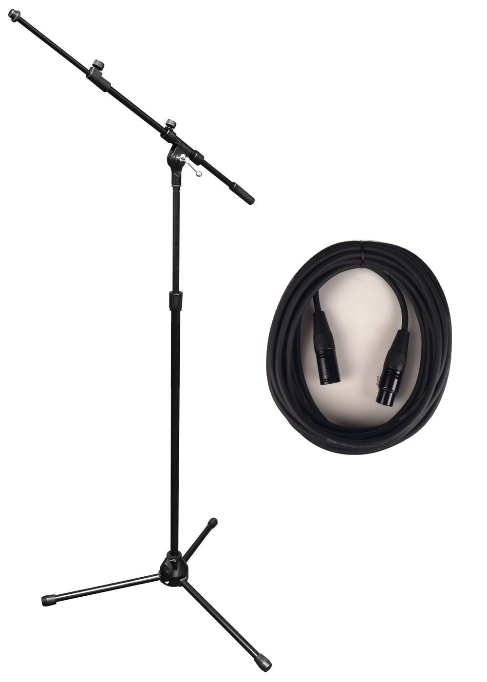 Vu MST100 Bundle MST100-30B Tripod Microphone Stand with (1) MIC-20 XLR Microphone Cable MST100-PK1-K