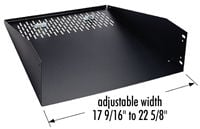 """Middle Atlantic Products WUSS11.5 Wide Unit Shelf System 11.5""""D  WUSS11.5"""