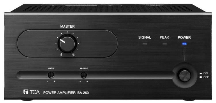 TOA BA-260 [RESTOCK ITEM] Power Amp, 60W, 4 Ohms, Line Input BA260CU-RST-01