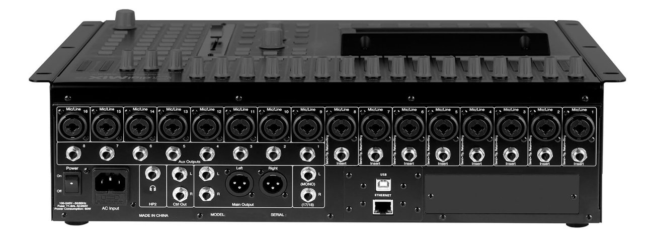 ashly digimix18 digital mixer 18 channel digital mixer rackmountable full compass. Black Bedroom Furniture Sets. Home Design Ideas