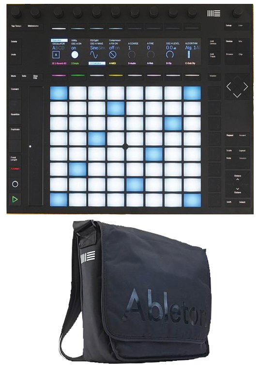 Ableton Push 2 / Equipment Bag Bundle - Music Pad Controller Unit with Included Equipment Carry Bag PUSH2-K