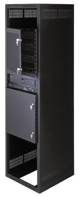 Rack Security Solid Door 16 Space 28""