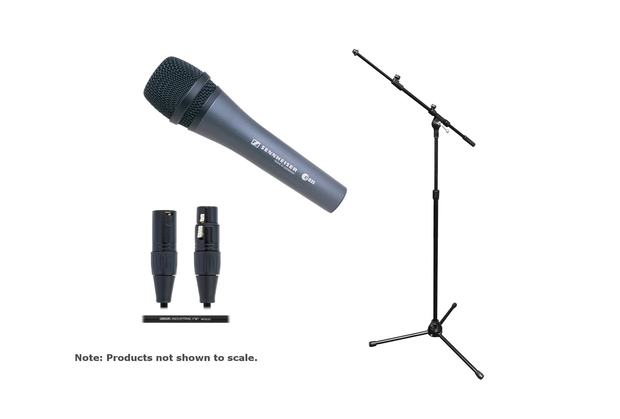 Sennheiser e 835 / Stand / Cable Bundle e 835 Mic with Tripod Mic Stand/Boom and 20ft Cable E835-SOLO-K