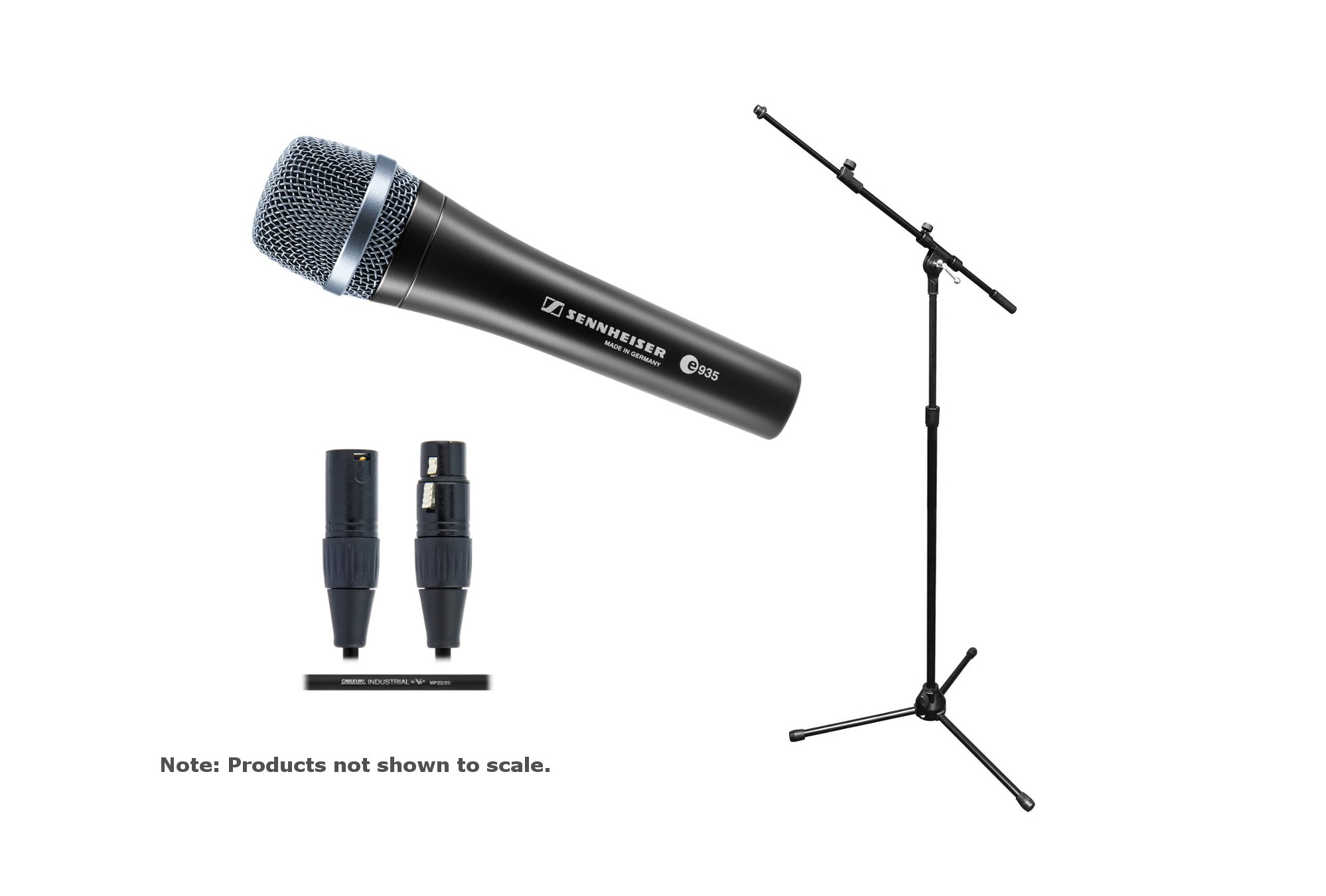 Sennheiser e 935 / Stand / Cable Bundle e 935 Mic with Tripod Mic Stand/Boom and 20ft Cable E935-SOLO-K