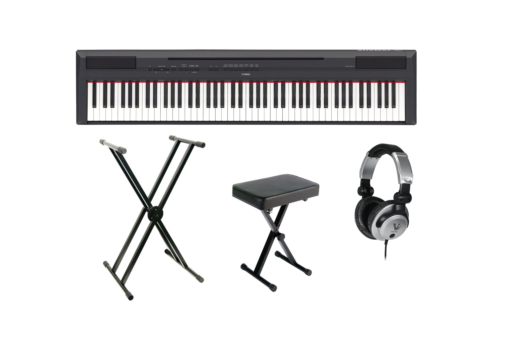 Yamaha P115B / Stand / Bench / Headphone Bundle P115B Digital Piano + Stand + Bench + Headphones P115B-BASICPCK-K