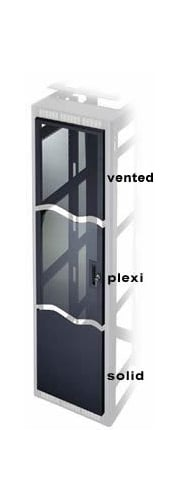 10 Space Plexiglass Universal Front Door for Racks and Enclosures
