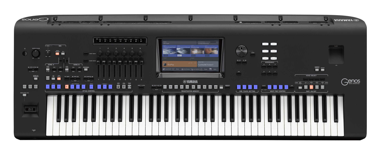 yamaha genos 76 key arranger workstation keyboard full compass systems. Black Bedroom Furniture Sets. Home Design Ideas