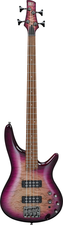 Ibanez SR400EQM 4-String Bass Guitar, 24-Fret, Rosewood Fretboard with White Dot Inlay SR400EQM