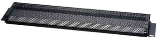 2 space steel perforated security cover