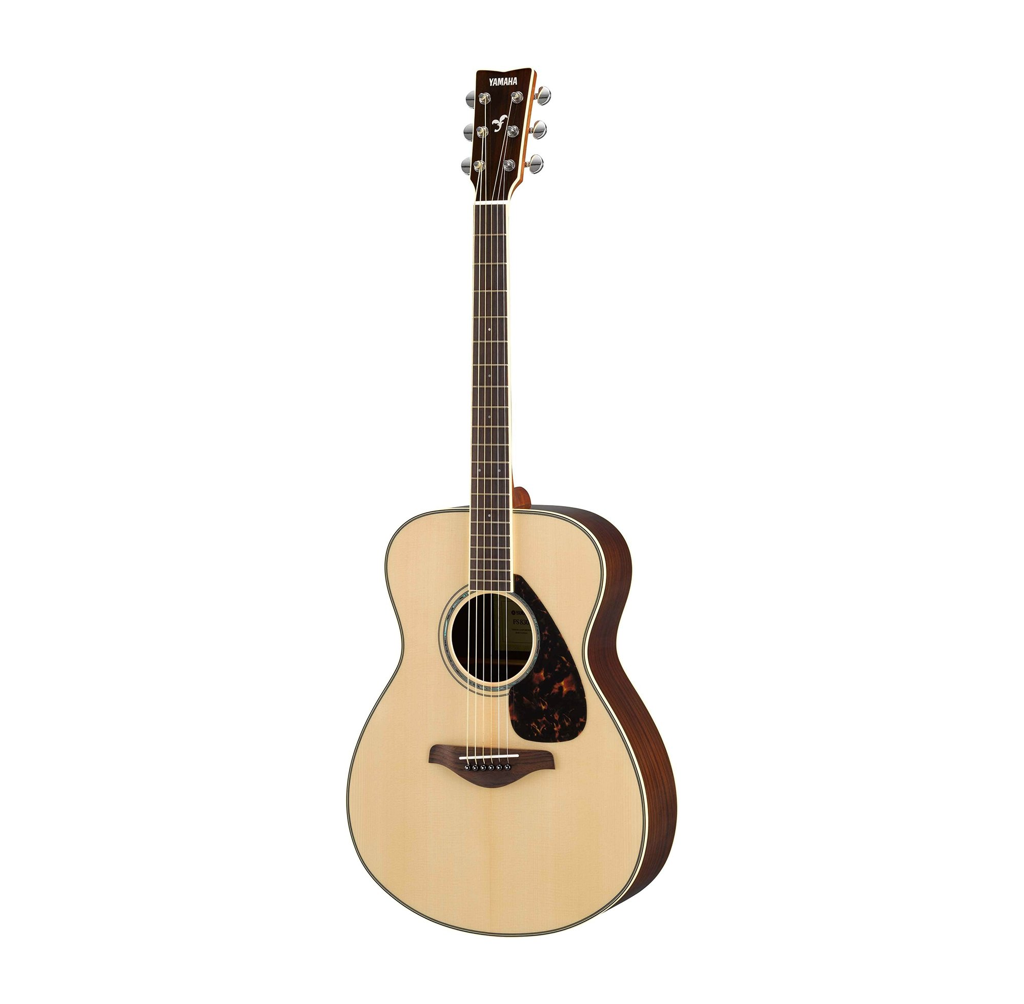 yamaha fs830 small body acoustic guitar with rosewood back sides full compass systems. Black Bedroom Furniture Sets. Home Design Ideas