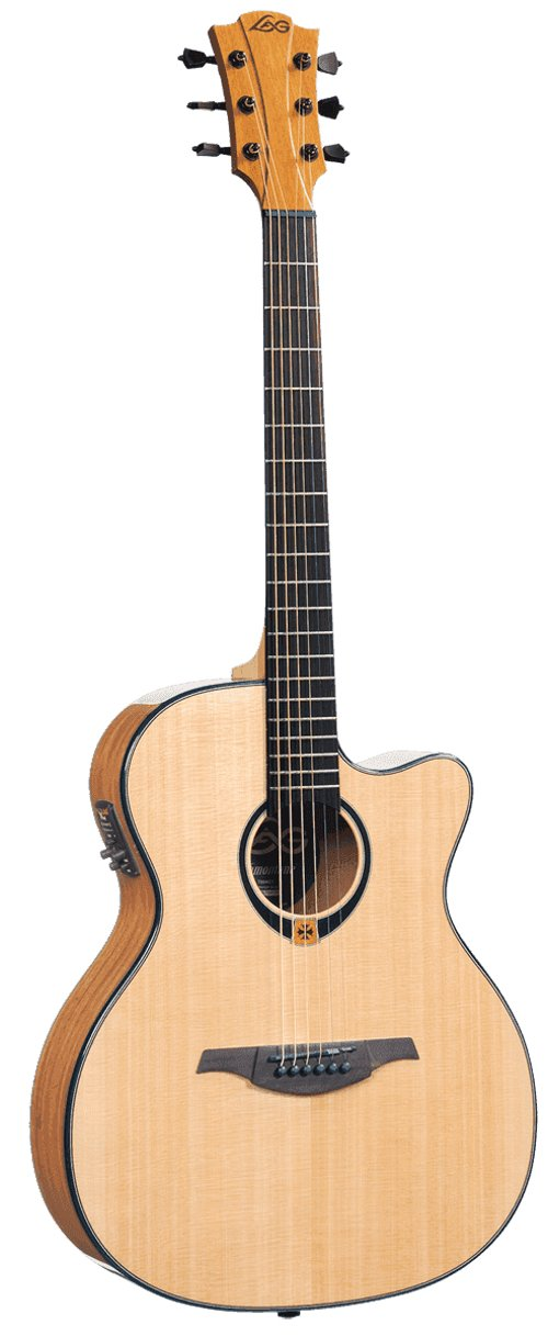 lag t80ace high gloss tramontane series auditorium cutaway acoustic electric guitar full. Black Bedroom Furniture Sets. Home Design Ideas
