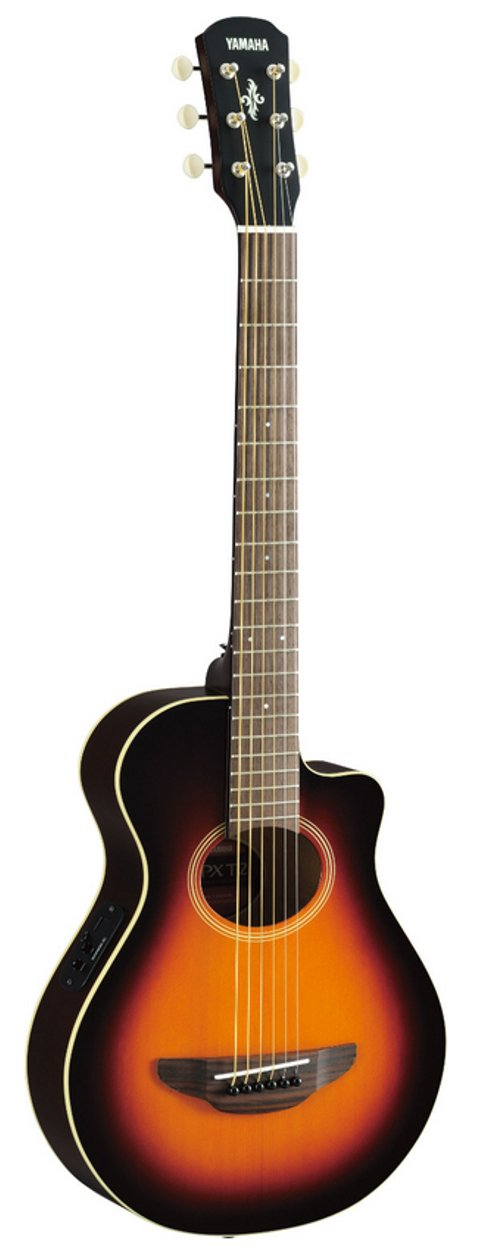 Old Violin Sunburst 3 4 Sized Acoustic Electric Travel Guitar With