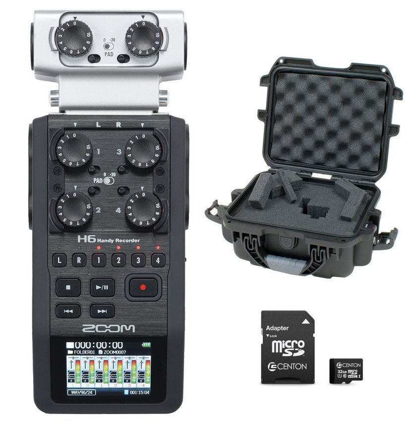 H6 Handheld Recorder Bundle with Case and 32GB micoSDHC Card