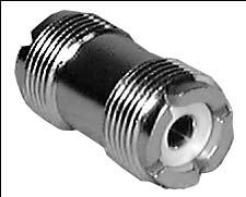 UHF Dual Female In-Line Adaptor (Type PL-258, Bulk Packed)
