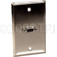 Wall Plate VGA/DSub 15p HD Female