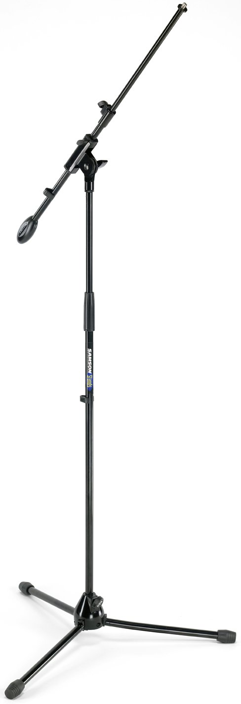 Microphone Stand with Telescoping Boom