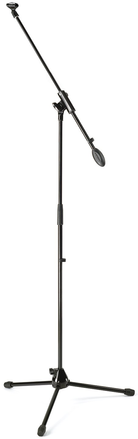 Microphone Boom Stand with 18 ft XLR Cable, Windscreen, and Clip