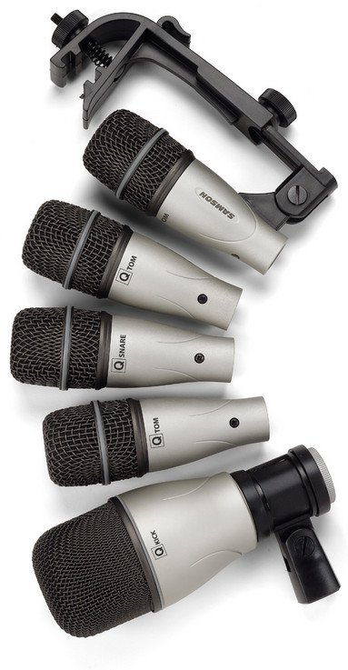 5 Piece Drum Microphone Kit with Road Case